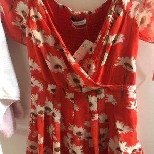 Urban outfitters floral red dress